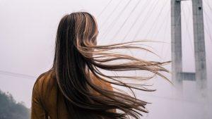 dziewczyna, długie proste włosy