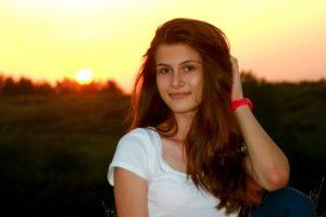 kobieta, słońce