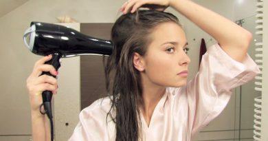 suszenie włosów suszarką